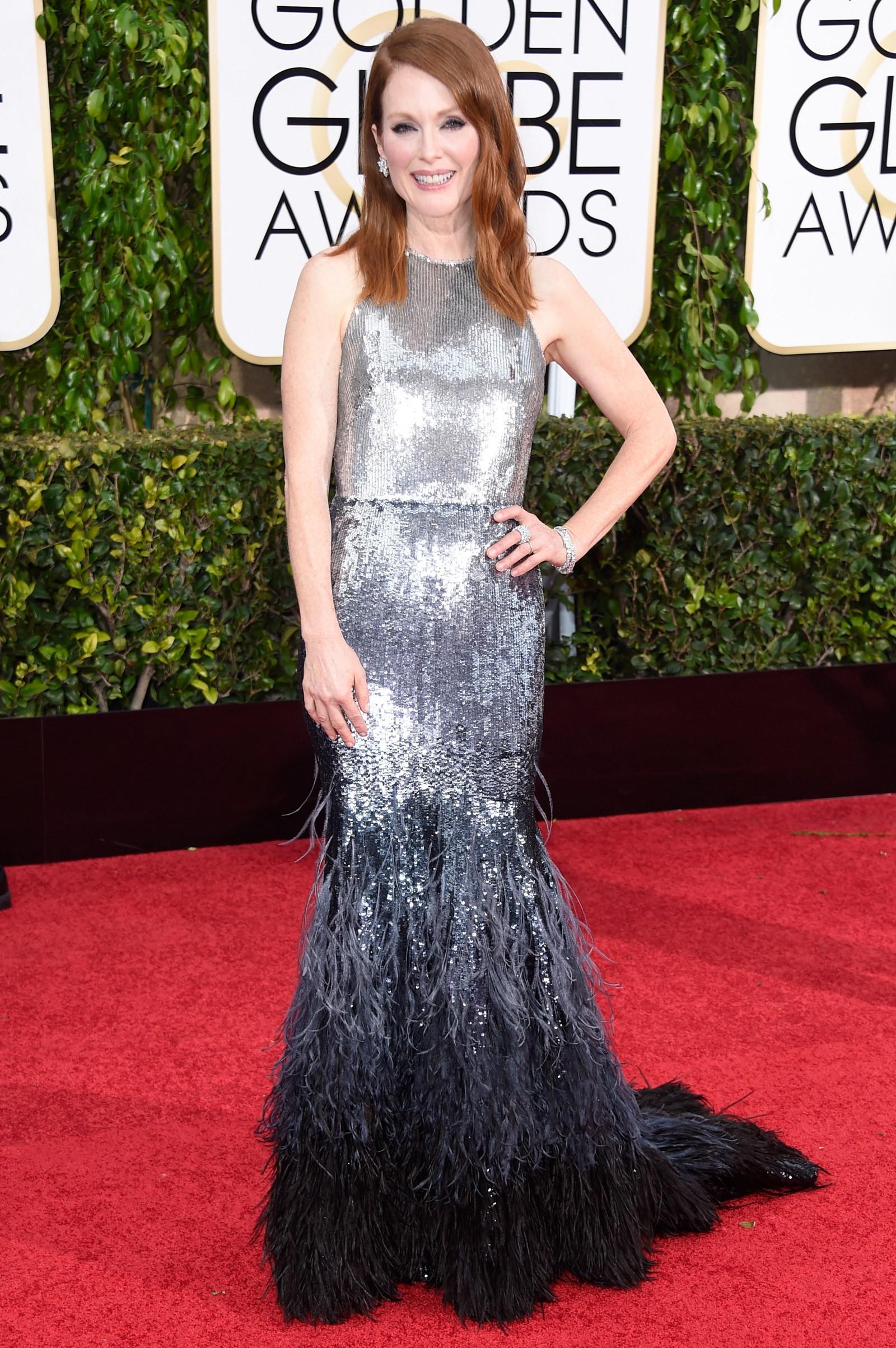 2014 - melhor atriz de drama para Julianne Moore, que vestiu Givenchy (Foto: Getty Images)