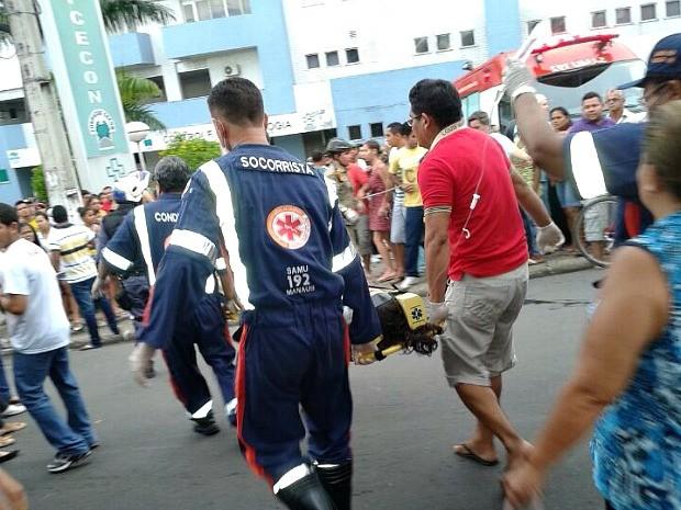 Acidente ocorreu durante procissão na Sexta-feira Santa, em Manaus (Foto: Divulgação/PM)
