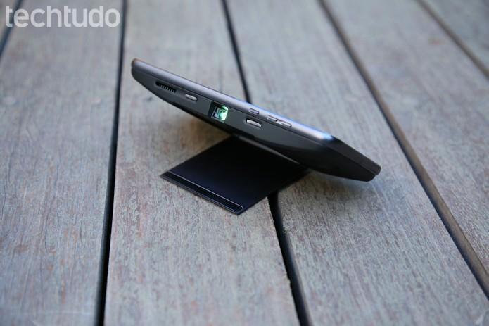 Moto Snap de projeção, promete imagens de até 70 polegadas  (Foto: João Gabriel Balbi/TechTudo)