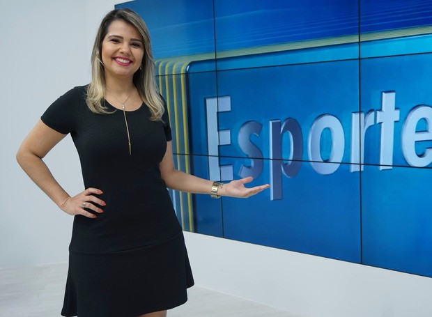 Vanessa Peixoto assume coluna de esportes no MG Inter TV primeira edição (Foto: Welington Silveira/Inter TV)