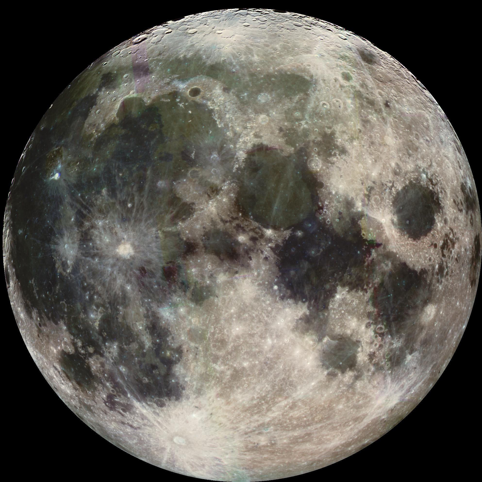 Imagem da agência espacial americana, a Nasa, da Lua, feita em abril de 2011 (Foto: Nasa/JPL)
