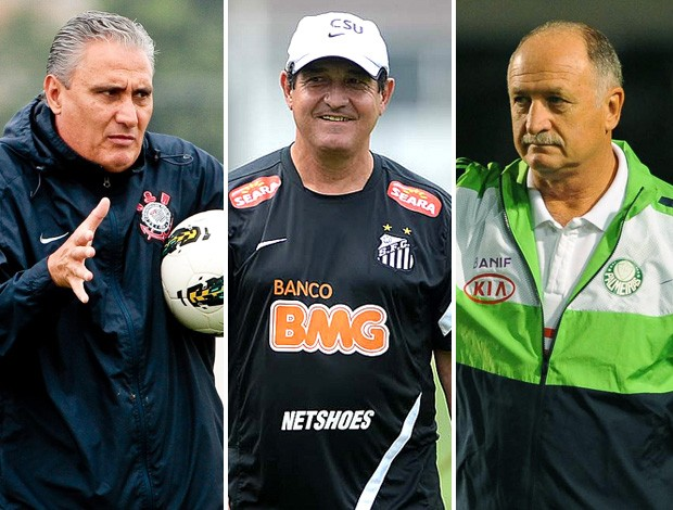 montagem Seleção Tite Muricy Ramalho e Felipão (Foto: Editoria de Arte / Globoesporte.com)