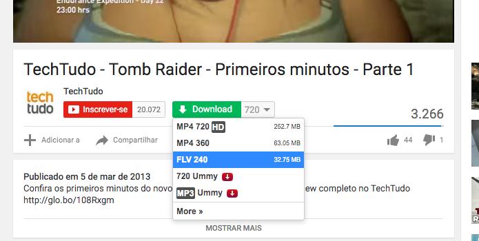 download youtube extensão chrome
