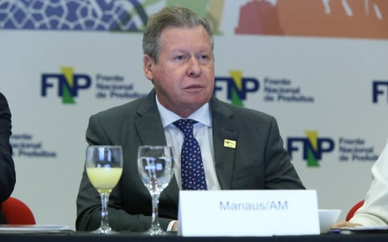 O prefeito de Manaus, Arthur Virgílio (Foto: Paulo Negreiros/FNP)