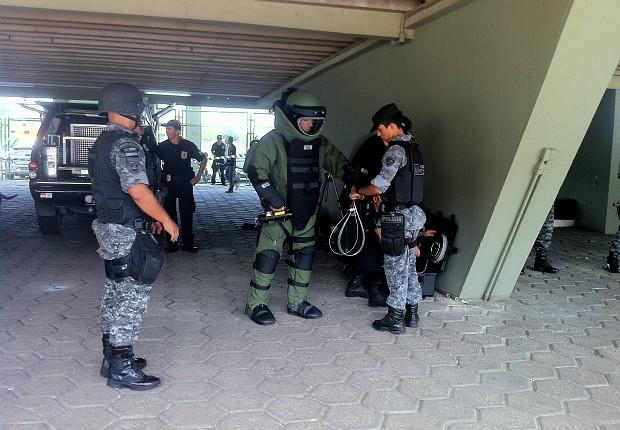 O treino ocorreu no Centro de Convenções, Sambódromo, Zona Norte de Manaus (Foto: Ana Graziela Maia/G1 AM)