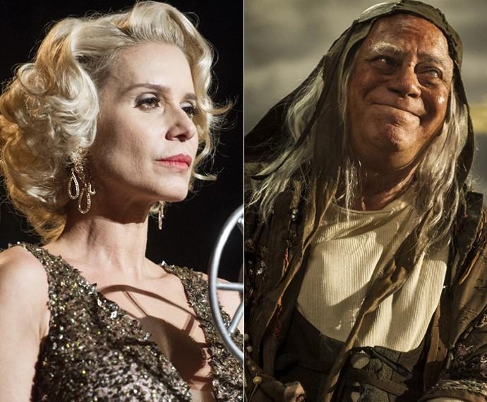 Tonico Pereira em Amorteamo e Paula Burlamaquy em Joia Rara (Foto: Cynthia Salles/ Globo / Renato Rocha Miranda/ Globo)