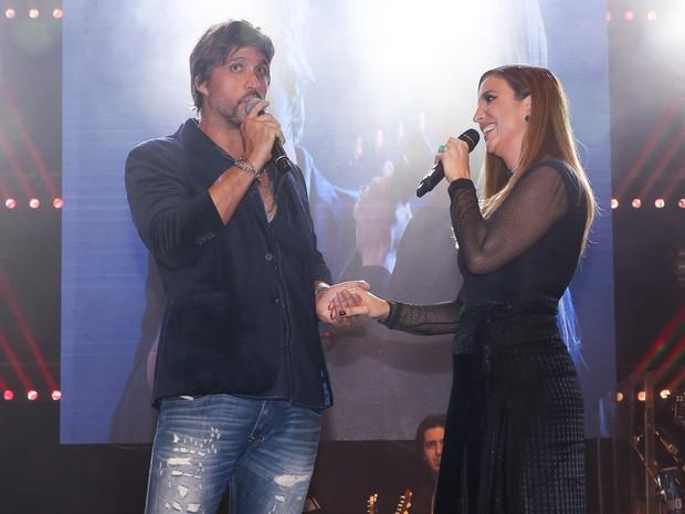 Leo e Ivete Sangalo em festa em Uberlândia, Minas Gerais (Foto: Manuela Scarpa/ Brazil News)