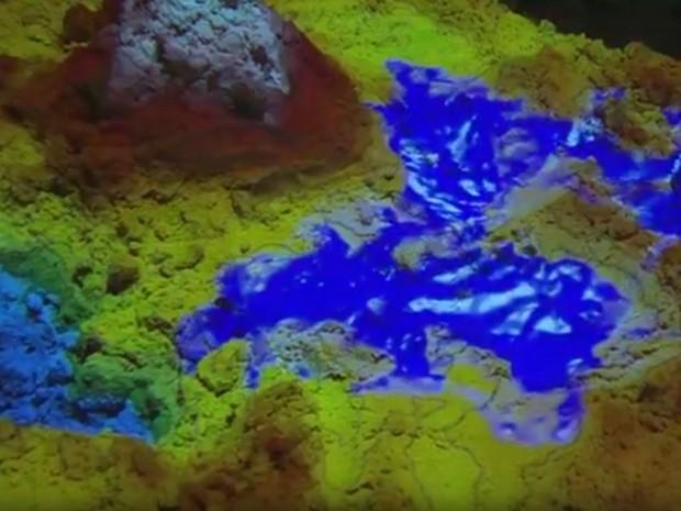 Estudante de Limeira desenvolveu sistema de relevo em 3D (Foto: Reprodução/EPTV)