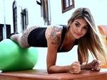 Veja mais fotos de Kelly Key em aula de pilates