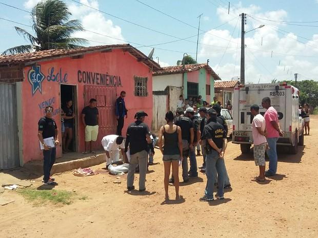 Segundo a assessoria do Itep, nove corpos foram recolhidos  (Foto: Mirella Lopes/Inter TV Cabugi )
