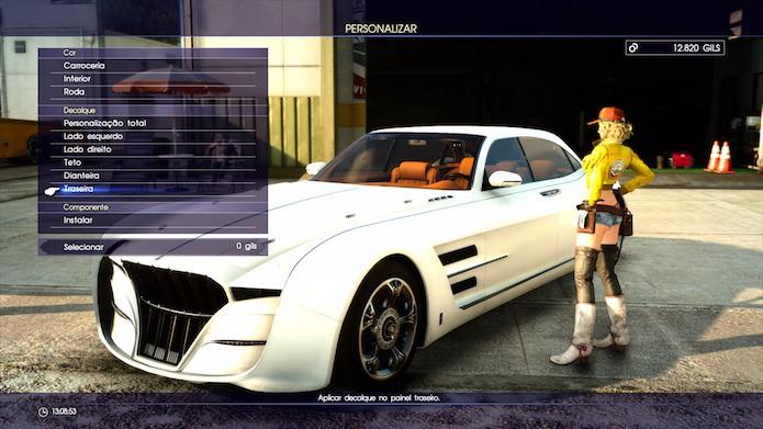 Final Fantasy XV: peças novas podem ser aplicadas ao Regalia (Foto: Reprodução/Victor Teixeira)