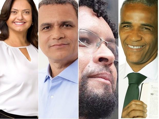 Candidatos participaram de debate na manhã desta quinta-feira (29) em Salvador (Foto: Montagem/ G1)