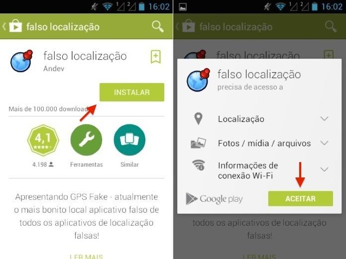Instale o app Fake Location (Foto: Reprodução/Helito Bijora)