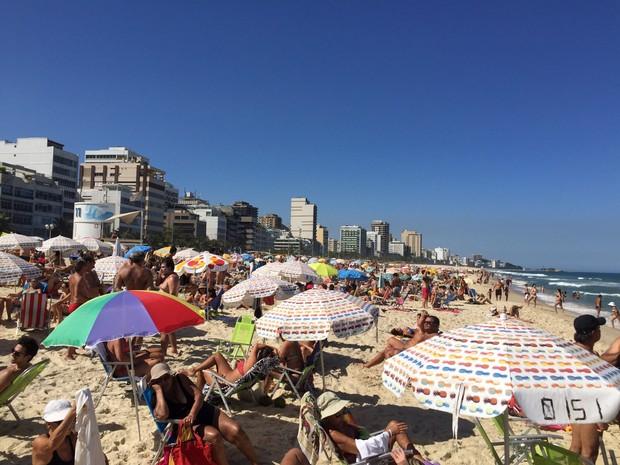 Cariocas e turistas aproveitaram o sábado de sol no Rio (Foto: Ricardo Abreu / Arquivo pessoal)