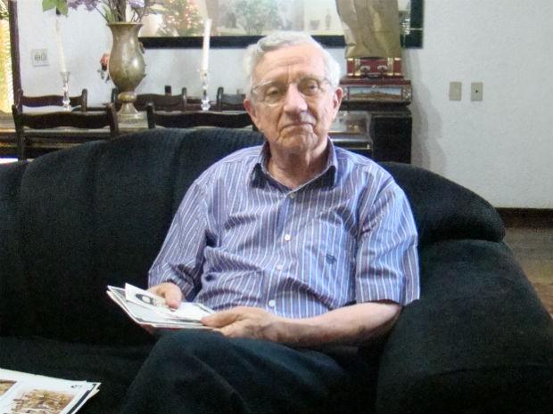 Aldo Vannucchi, tio de Alexandre Vannucchi Leme, estudante sorocabano morto pela ditadura militar em 1973 (Foto: Fernando Cesarotti/G1)