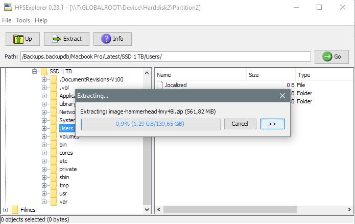 Importe arquivos de um HD em HFS (Foto: Reprodução/Paulo Alves)