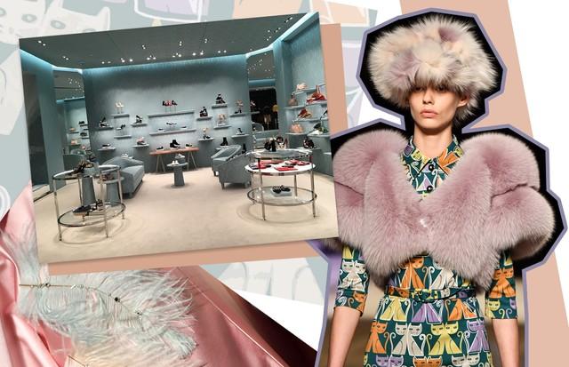 Nova loja da Miu Miu no Shopping JK (Foto: Divulgação e Getty)