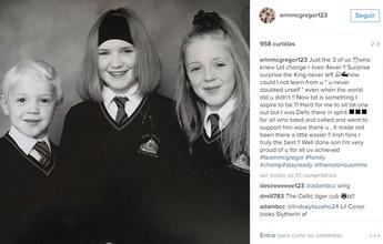 """BLOG: Irmã posta foto de Conor McGregor criança: """"Nunca duvidou de si mesmo"""""""