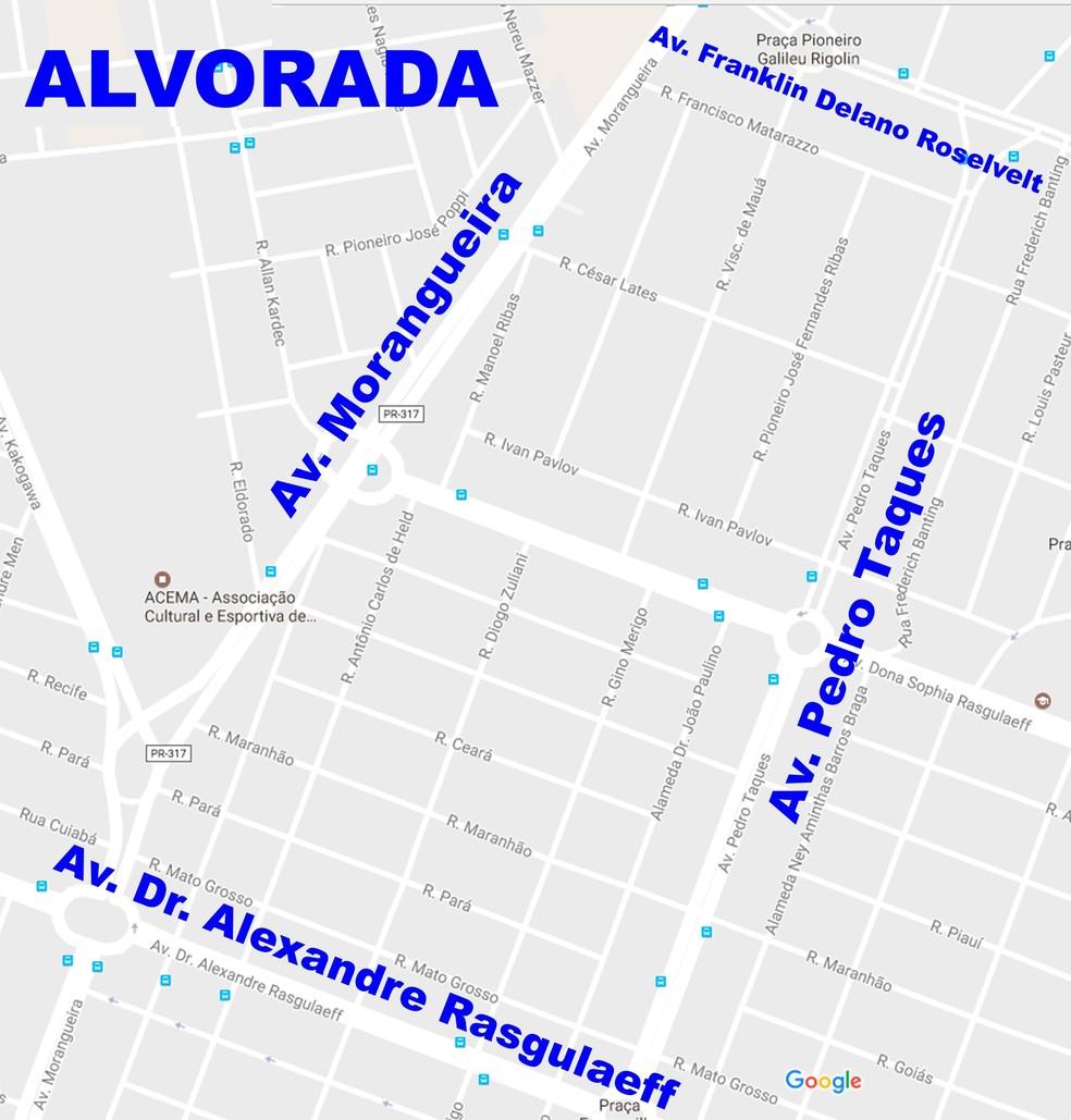 Veja quais são as ruas que serão atendidas no programa Bota-Fora no Jardim Alvorada neste sábado (13) (Foto: Prefeitura de Maringá/Divulgação)