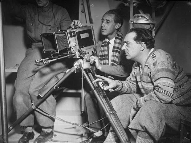 Fritz Lang durante as filmagens de 'A mulher na lua' (1929) (Foto: Divulgação)