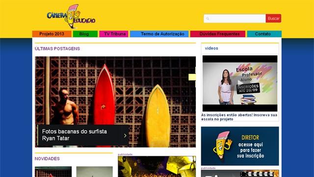 Blog do Câmera Educação que deverá ser acessado através do tvtribuna.com/cameraeducacao para efetuar a inscrição da escola. (Foto: Priscila Martinez)