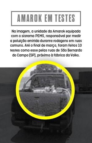Volkswagen Amarok em testes com equipamento PEMS (Foto: Autoesporte)