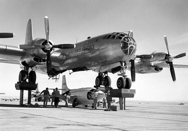 En 1947, o Bell X-1B, pilotado por Chuck Yeager,  tornou-se o primeiro avião a superar a velocidade do som (Foto: NASA)