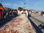 Cidade italiana de Nápoles faz pizza gigante com 2 km de comprimento
