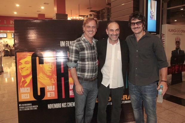 Guilherme Fontes, Marco Ricca e Gabriel Braga Nunes (Foto: Isac Luz / EGO)