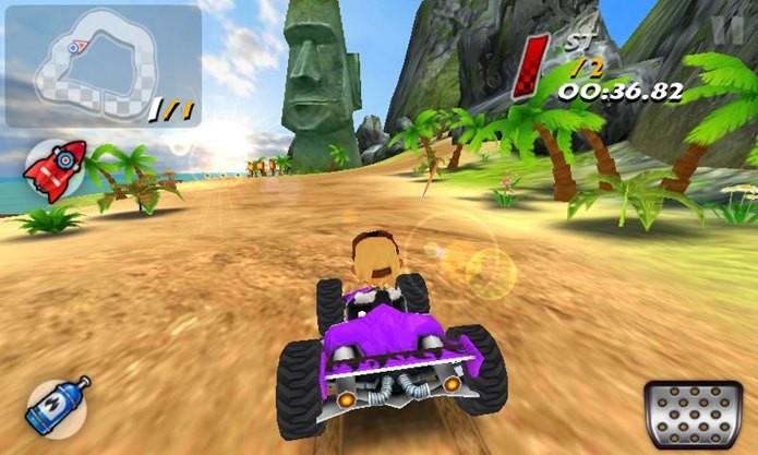 Jogo de corrida de Kart para Android é leve e roda em qualquer celular (Foto: Divulgação / Mouse Games)