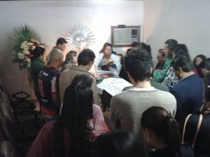 Enterro foi na manhã desta terça-feira (15) em Alegrete (Foto: Gabriela Fogliarini/RBS TV)