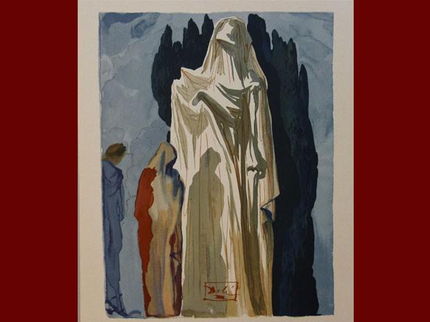 'O inferno para mim é daliniano mesmo, onde você encontra mais referências do Dalí surrealista dos anos 1929 a 1939. Então, esse Dalí está muito presente na obra', disse Luciano Pinheiro (Foto: Reprodução)