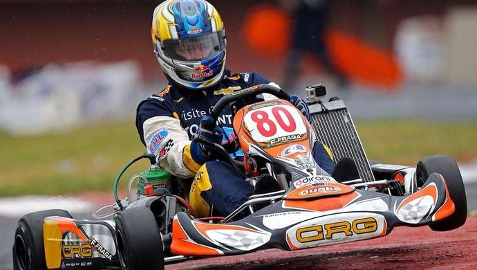 Felipe Fraga é segundo colocado em corrida no Brasileiro de Kart (Foto: Divulgação/Carsten Horts)
