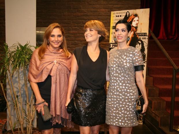 Heloísa Périssé, Cláudia Abreu e Maria Flor em show na Zona Sul do Rio (Foto: Robson Moreira/ Brazil News)