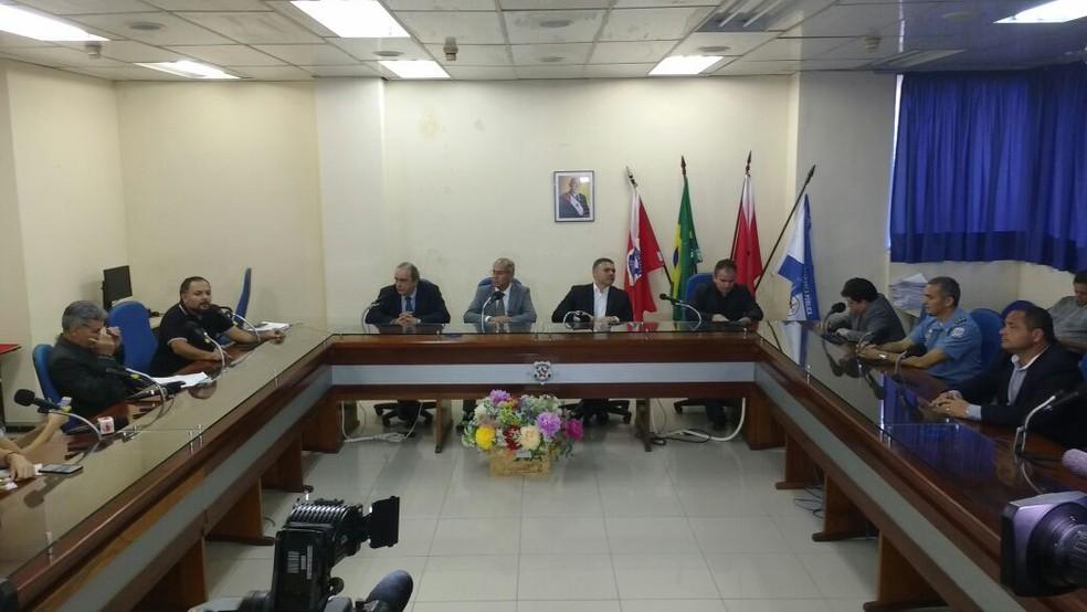 Laudos do CPC foram divulgados durante coletiva do Governo do Pará na quarta-feira, 14. (Foto: Alexandre Yuri / G1 Pará)