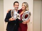 Ticiane Pinheiro recebe amigos famosos em sua festa de aniversário
