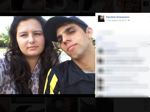 Caroline Fernanda Grassmann Martins e Luiz Carlos Silva (Foto: Reprodução/Facebook)