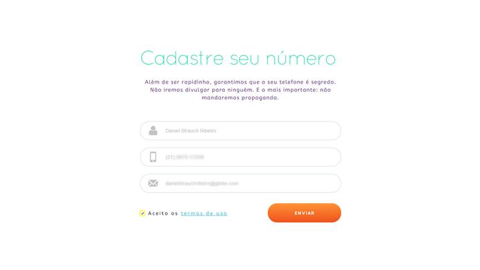 Digite seus dados cadastrais nos três campos de registro (Foto: Daniel Ribeiro /TechTudo)
