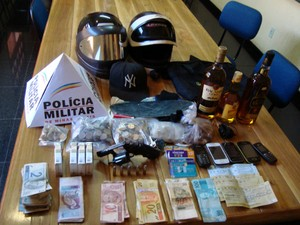 Arrastão Bom Despacho Martinho Campos Centro-Oeste de Minas Gerais (Foto: Polícia Militar / Divulgação)