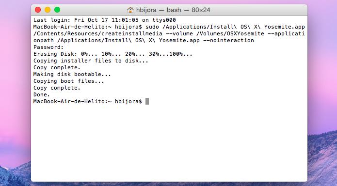 Criando pen drive de instalação do OS X Yosemite (Foto: Reprodução/Helito Bijora)