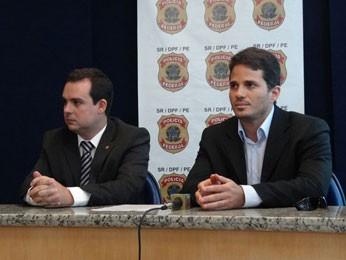 Delegados federais Eduardo Passos e Bernardo Torres (Foto: Katherine Coutinho / G1)