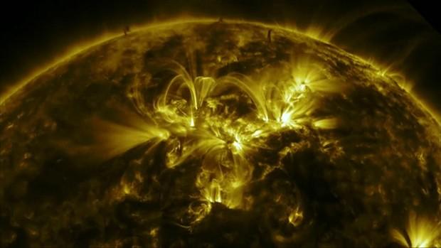 Imagens do Sol foram feitas pelo Observatório da Dinâmica Solar da Nasa (Foto: Nasa/Divulgação)