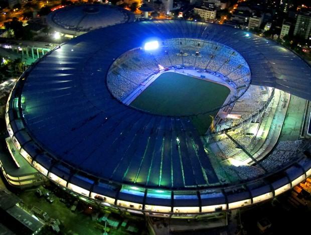 Maracanã teste de iluminção (Foto: Genilson Araújo / O Globo)