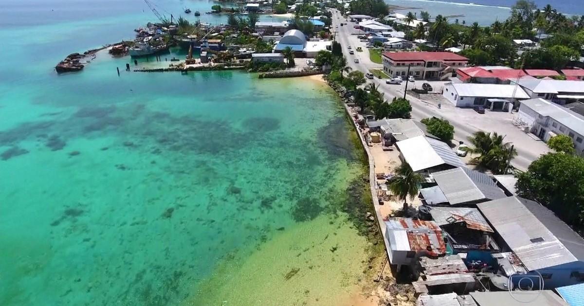 Resultado de imagem para Ilhas Marshall travam luta contra aquecimento global que eleva Pacífico