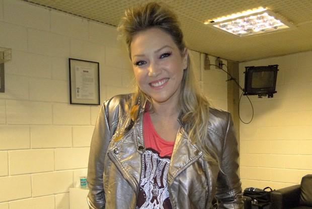 Deborah Blando nos bastidores do TV Xuxa (Foto: TV Xuxa / TV Globo)