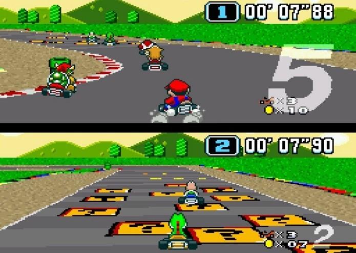 Melhores jogos de corridas do SNES: Super Mario Kart (Fonte: Reprodução/nintendolife.com)