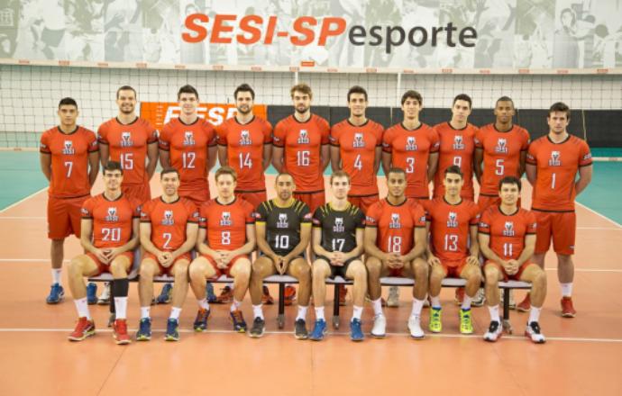 Sesi-SP elenco foto oficial Superliga 2014/2015 (Foto: Divulgação)
