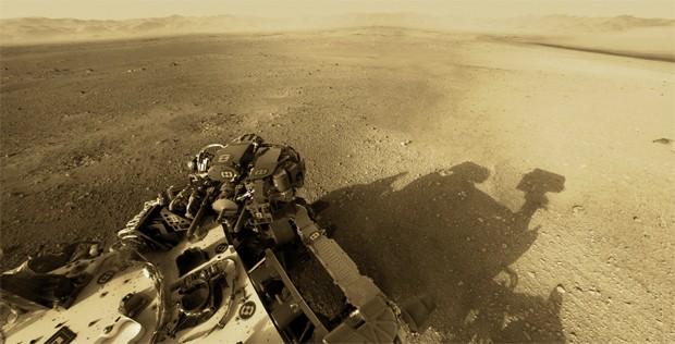 Curiosity em Marte (Foto: NASA/JPL-Caltech)