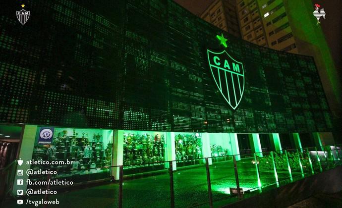 Fachada da sede do Atlético Mineiro (Foto: Reprodução/Twitter)