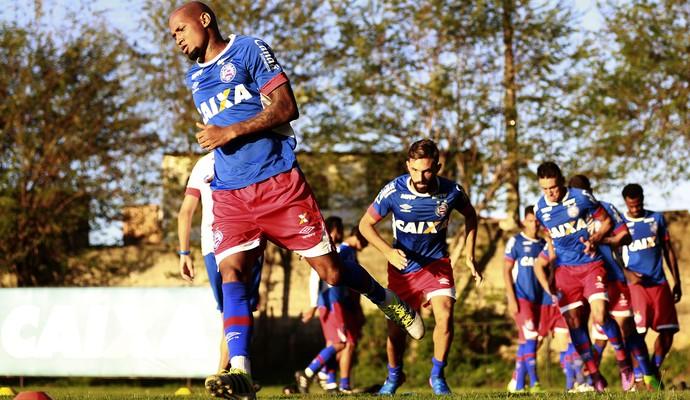 Wellington Silva em treino do Bahia (Foto: Felipe Oliveira / Divulgação / E.C. Bahia)